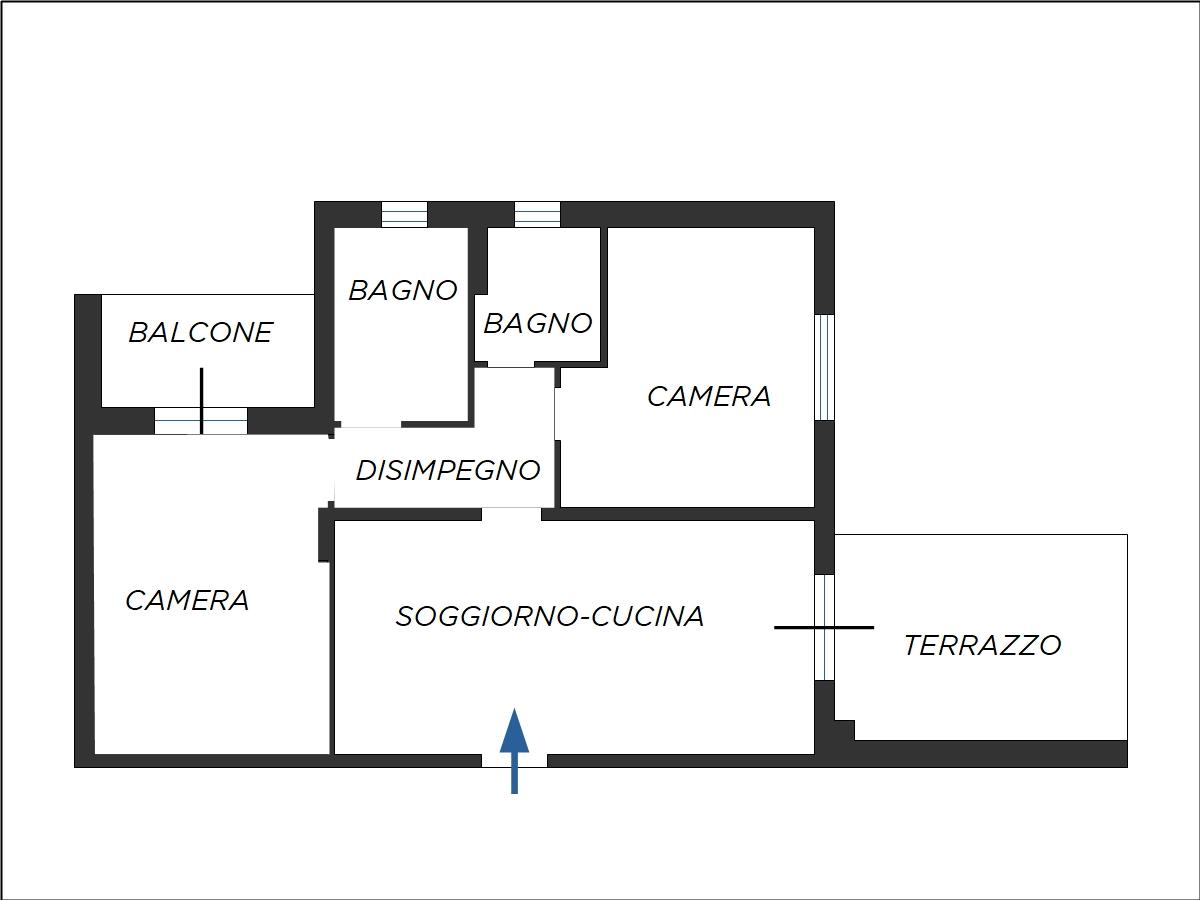 Planimetria appartamento Manoppello
